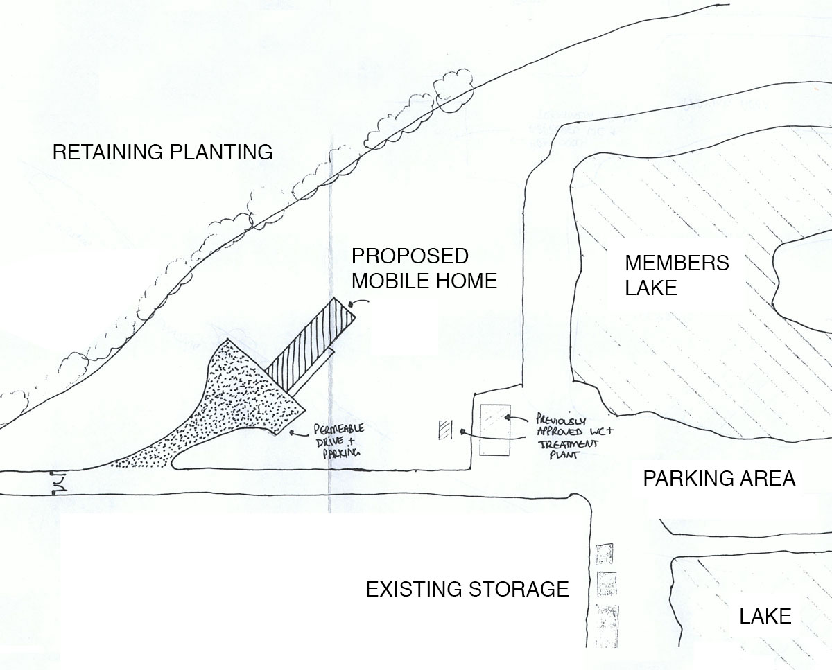 Proposed plans for 'Mousehole Lakes' an expanded fishery. SJM Planning.