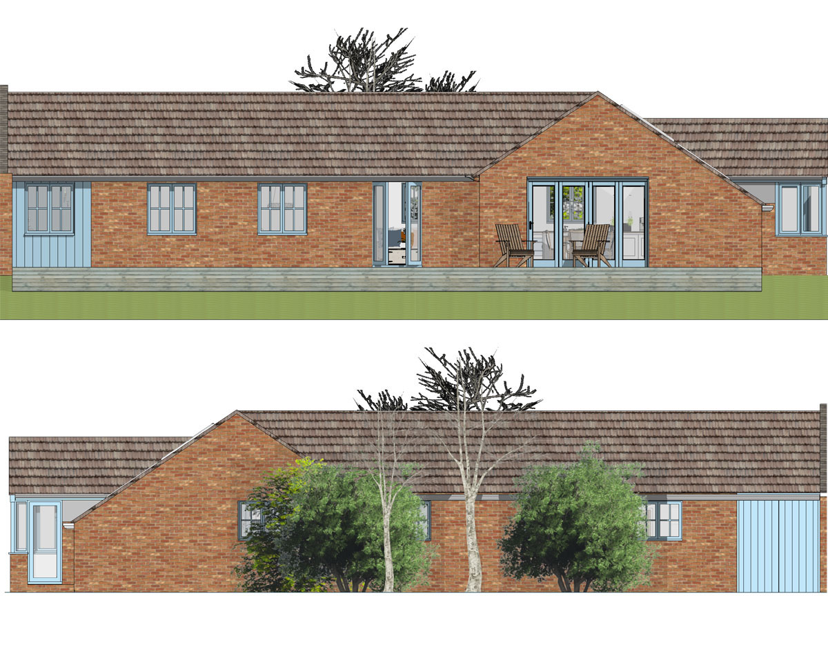 Elevations of 'Stone Cross Farm' a new agricultural dwelling. SJM Planning.