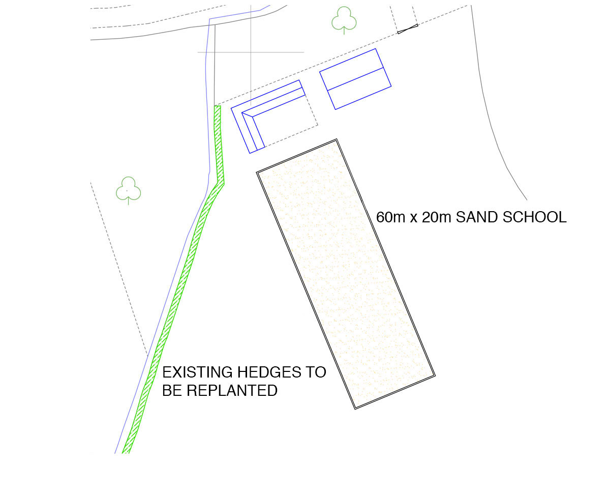 Plans of 'Whetsted Rd' and their extended equestrian facilities. SJM Planning.