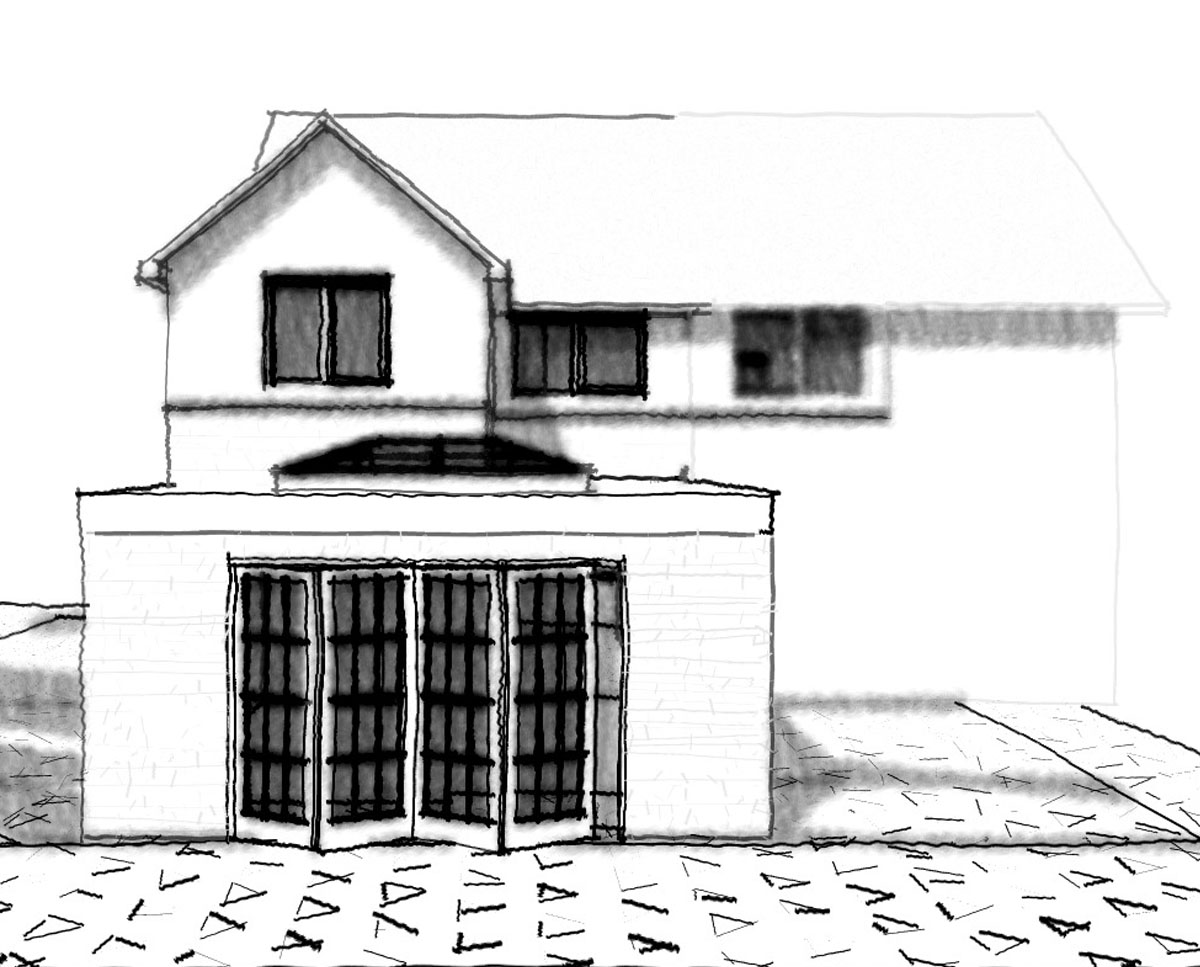 Elevation render of 'Howland House' in Maidstone. SJM Planning.