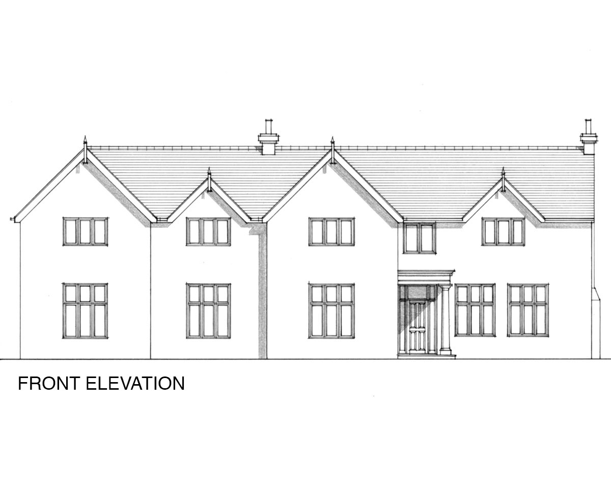 Front elevation of 'Warwick Park' in Tunbridge Wells. SJM Planning.