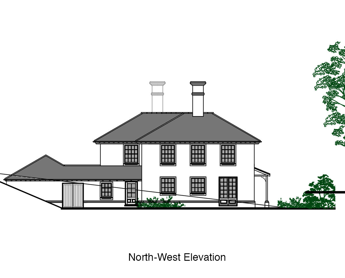 North-West Elevation of 'Burford House' in Tunbridge Wells. SJM Planning.