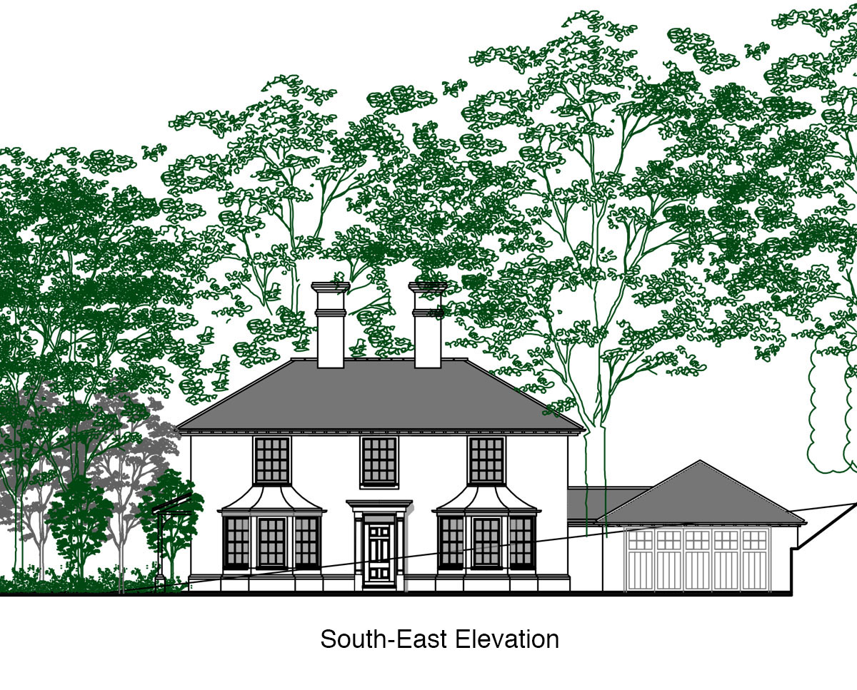 South-East Elevation of 'Burford House' in Tunbridge Wells. SJM Planning.