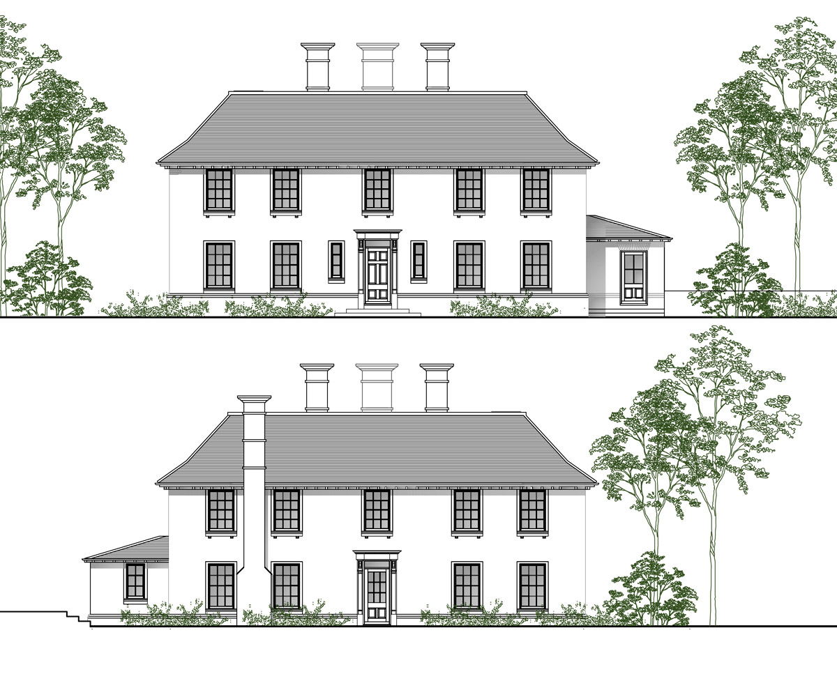 Front Elevations of 'Green Tiles' in Tunbridge Wells. SJM Planning.