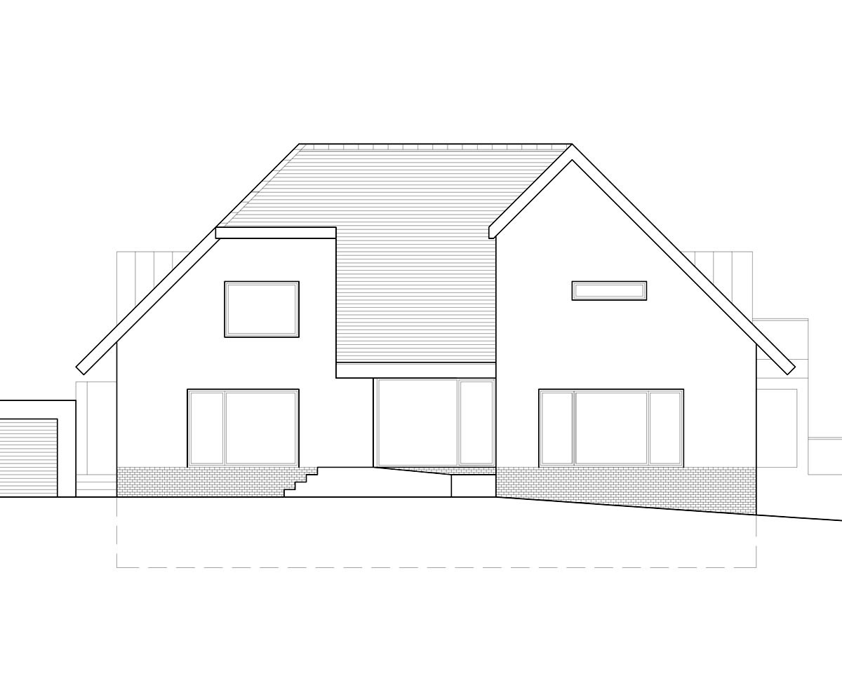 Front Elevation of 'Kippington Rd' in the Sevenoaks District. SJM Planning.