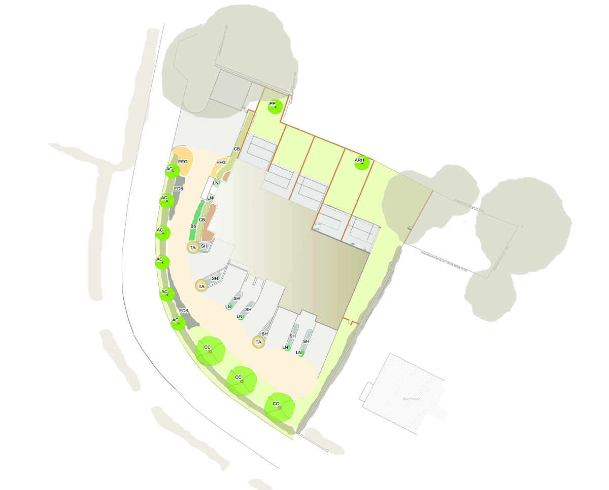 Lanscaping Plans of 'Lakeview' in Tunbridge Wells. SJM Planning.