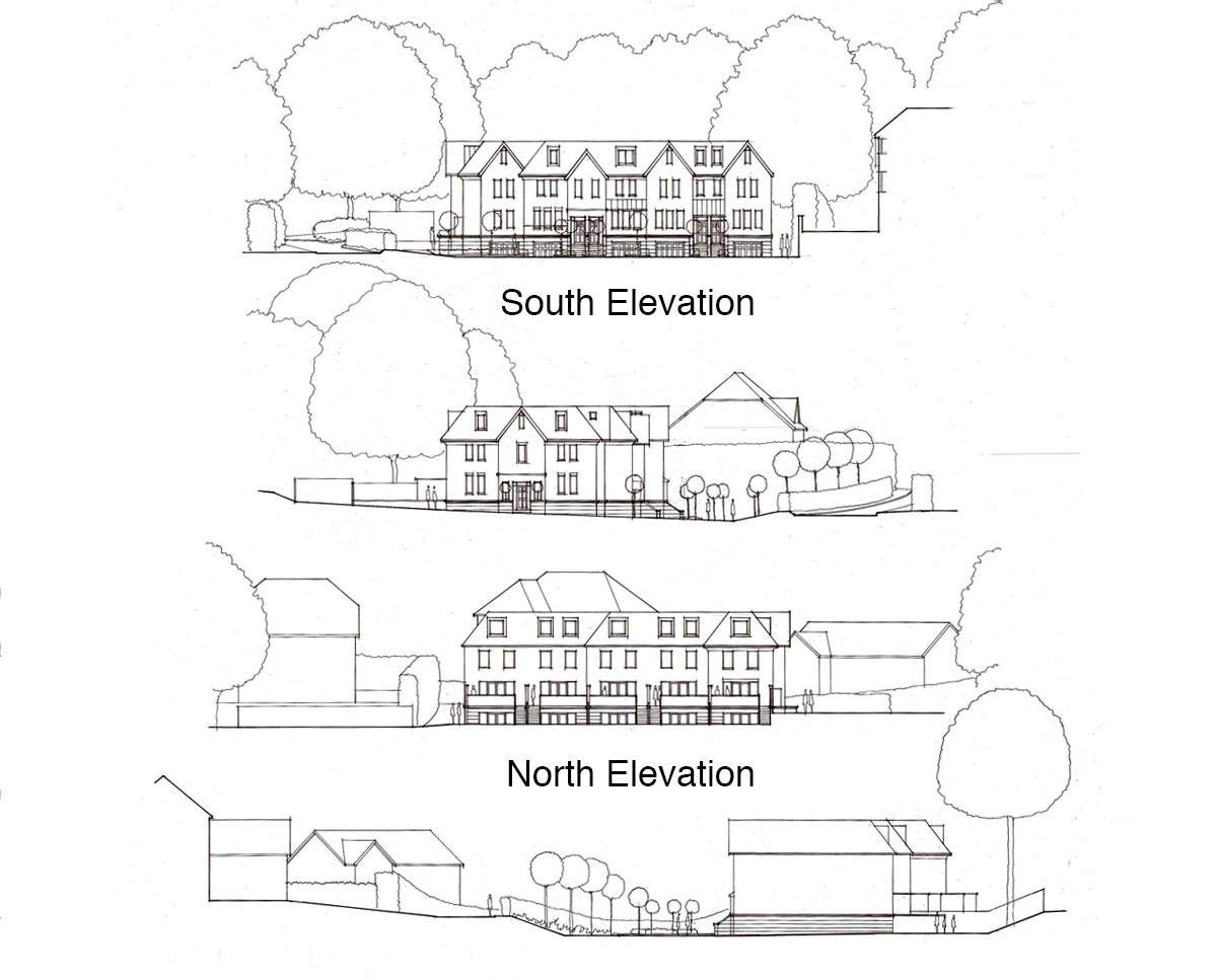 Elevations of 'Lakeview' in Tunbridge Wells. SJM Planning.