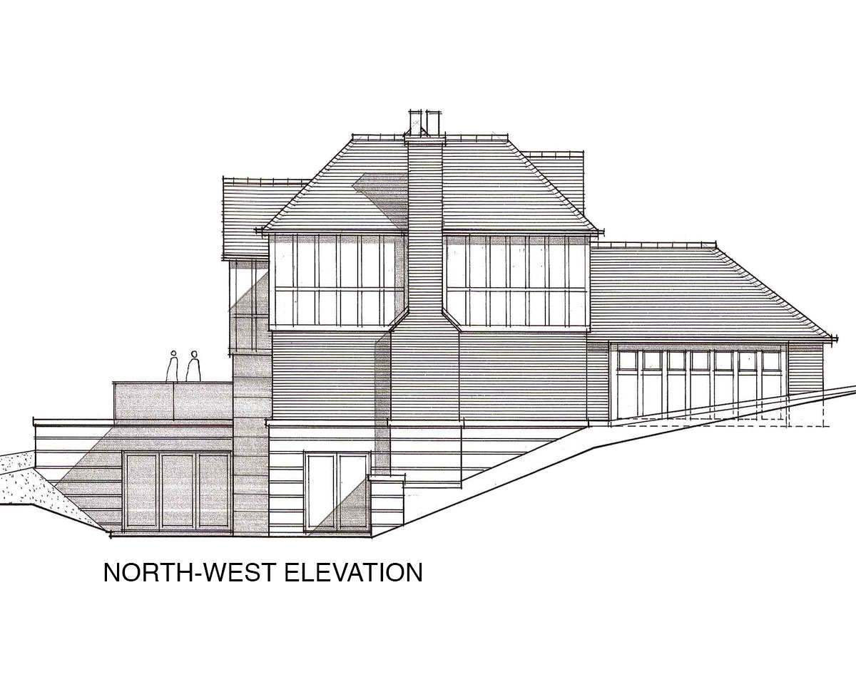 North-West Elevation of 'Oakhill Rd' in the Sevenoaks District. SJM Planning.