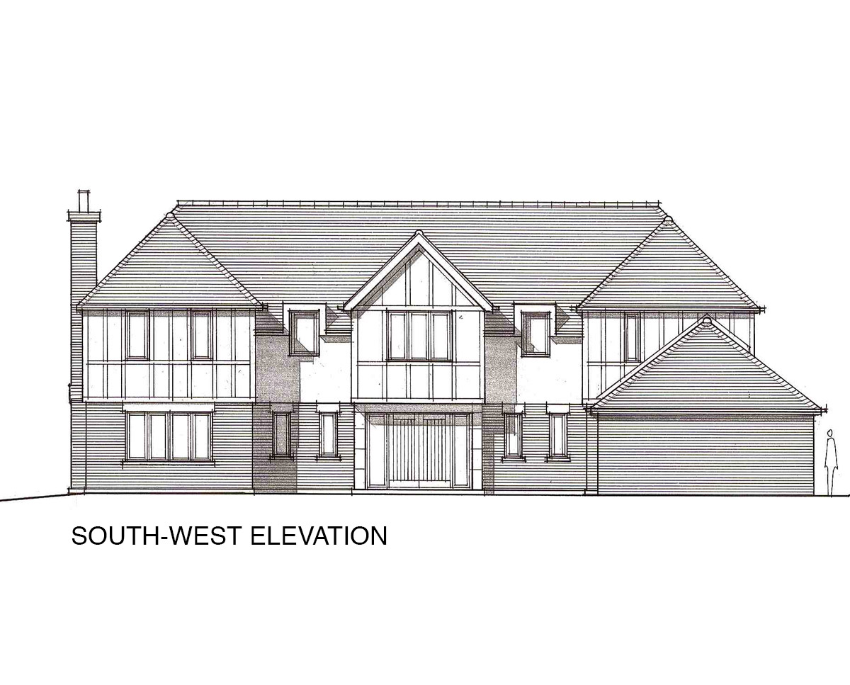 South-West Elevation of 'Oakhill Rd' in the Sevenoaks District. SJM Planning.