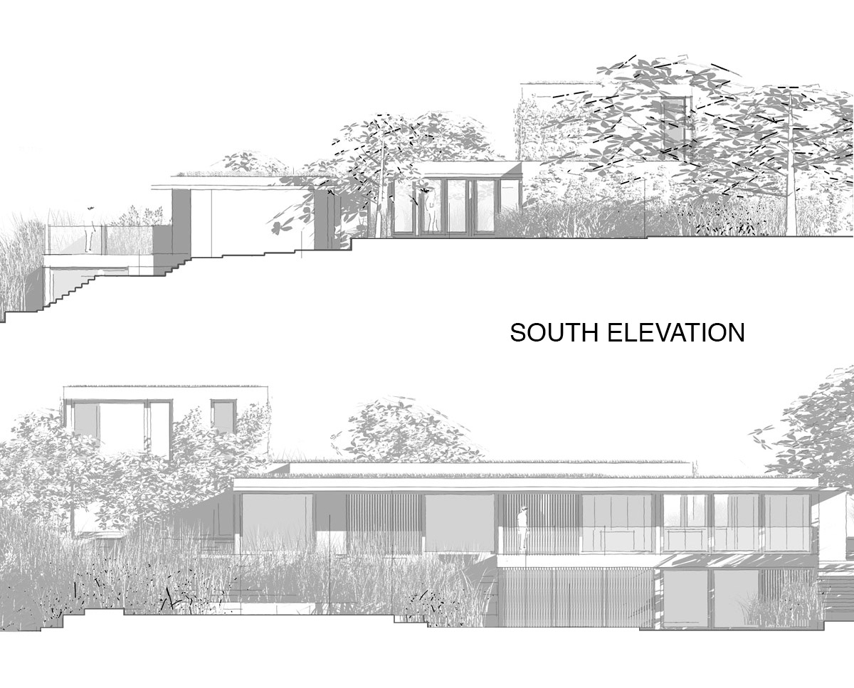 South Elevations of 'Shepherds Lawn' in Tunbridge Wells. SJM Planning.